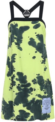 McQ Genesis Ii Tie Dyed Silk Mini Dress