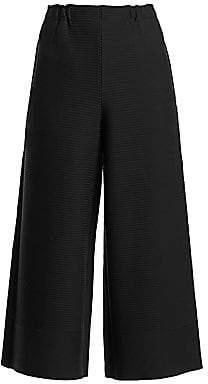 Issey Miyake Women's Random Ripple Wide-Leg Pants