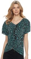 Dana Buchman Women's Twist-Front Top