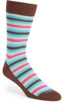 Lorenzo Uomo Men's Stripe Organic Cotton Blend Socks