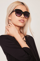 Missguided Graduated Frame Oversized Sunglasses Black