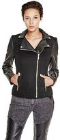 G by Guess GByGUESS Women's Kadence Wool-Blend Moto Jacket