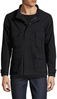 Shades of Grey by Micah Cohen Men's Solid Patch Pocket Field Jacket
