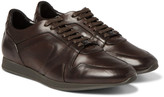 Burberry - Panelled Leather Sneakers