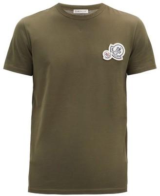 Moncler Double-logo Cotton T-shirt - Khaki