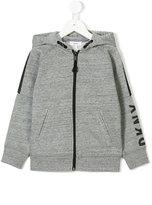 DKNY hooded zipped jacket