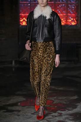 KHAITE The Magdeline Pant in Cheetah Velvet