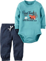 Carter's 2-pc. Turquoise Fox Bodysuit and Pants Set - Baby Boys newborn-24m