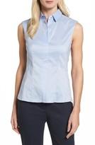 BOSS Women's 'Bashiva' Sleeveless Poplin Shirt