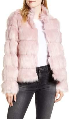 Rachel Parcell Faux Fur Tiered Coat