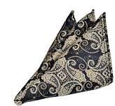 staychicfashion Men's Silk Jacquard Pocket Square Suit Handkerchief Accessories for Wedding Party(R18 Blue-dot)