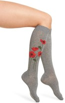 Kate Spade Women's Falling Poppy Knee High Socks