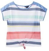 Tommy Hilfiger Mesh Tie Front Knit Top (Big Girls)