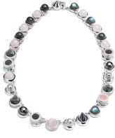 Eddie Borgo Collage Hematite & Rose Quartz Cabochon Necklace