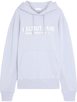 Helmut Lang Metallic Printed French Cotton-terry Hoodie