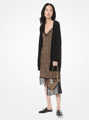 Michael Kors Wool and Cotton-Blend Cardigan