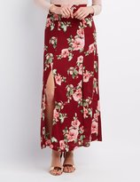 Charlotte Russe Floral Double Slit Maxi Skirt