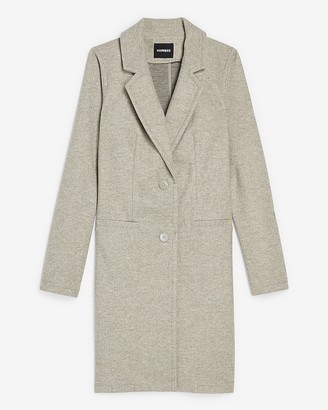 Express Two Button Knit Car Coat