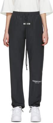 Essentials Black Canvas Lounge Pants
