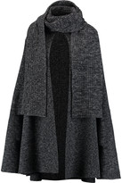 Michael Kors Jaspe wool and cashmere-blend cape