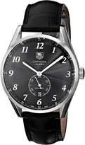 Tag Heuer Men's WAS2110.FC6180 Carrera Leather Strap Watch