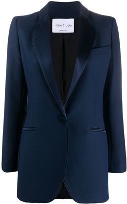 Hebe Studio Fitted Single-Breasted Blazer