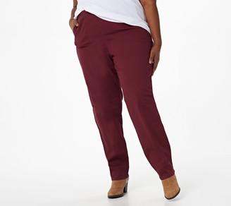 Denim & Co. Original Waist Stretch Petite Pants with Side Pockets