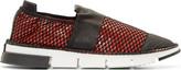 Cinzia Araia Red Mesh Slip-on Shoes
