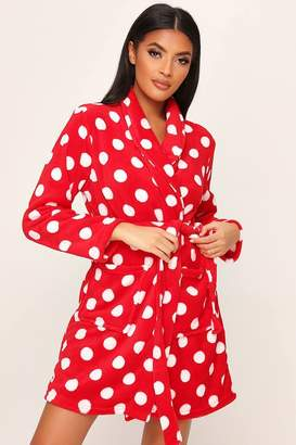 I SAW IT FIRST Red Polka Dot Dressing Gown