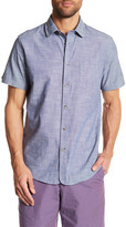 Ben Sherman Chambray Short Sleeve Slim Fit Shirt