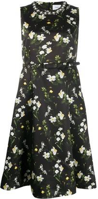 Erdem floral print flared dress