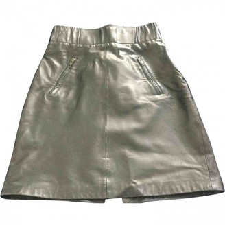 Claudie Pierlot Brown Leather Skirts