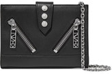 Kenzo Zip-Detailed Leather Shoulder Bag