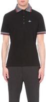 Vivienne Westwood Striped-trim cotton-piqué polo shirt