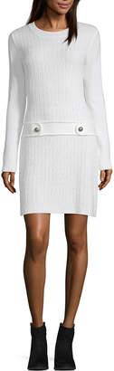 Byer California-Juniors Long Sleeve Bodycon Dress
