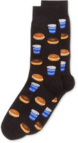 Hot Sox Men's Bagel and Coffee Printed Socks