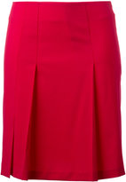 Cacharel pleated detail mini skirt - women - Spandex/Elastane/Virgin Wool - 34