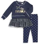 Nannette Baby Girl's Two-Piece Too Fab Top & Pants Set