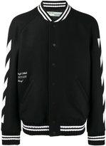 Off-White brushed print bomber jacket - men - Cotton/Polyamide/Polyester/Virgin Wool - L
