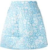 DELPOZO floral a-line skirt