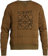 Loewe Quilted logo sweatshirt