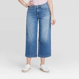 Universal Thread Women's High-Rise Wide Leg Cropped Jeans - Universal ThreadTM