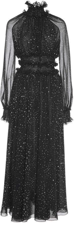 Giambattista Valli Dot Print Silk Dress