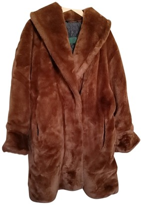 Gaultier Junior Camel Faux fur Coats