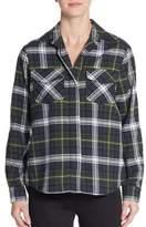 Sam Edelman Split Chiffon-Back Shirt