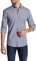 Zachary Prell Keaton Print Woven Trim Fit Shirt