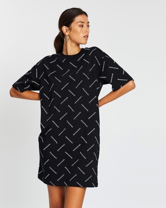 Calvin Klein Jeans Diagonal Logo T-Shirt Dress