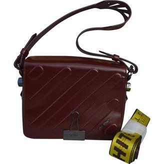 Off-White Off White Binder Burgundy Leather Handbags