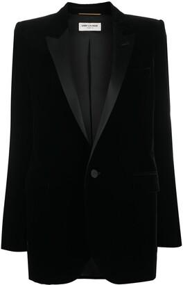 Saint Laurent Single-Breasted Velvet Tuxedo Jacket