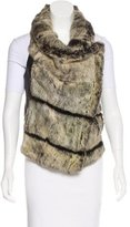 Helmut Lang Fur & Leather Vest
